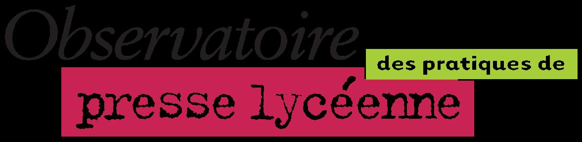 logo observatoire des pratiques de presse lycéenne