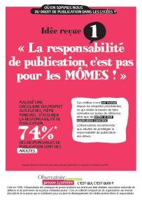 Affiche 1 sur le droit de publication lycéen