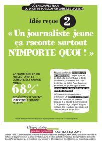 Affiche 2 sur le droit de publication lycéen